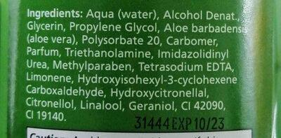 Health aid aloe vera gel - Ingredients - en