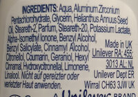 Invisibledry - Ingredients