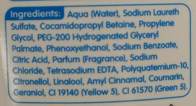 Baby Bath ultra mild - Ingredients