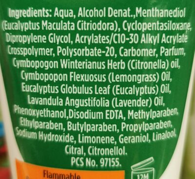 Natural insect repellent - Ingredients - en
