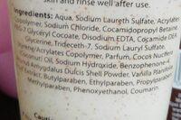pampered shower smoothies - Ingredients - en