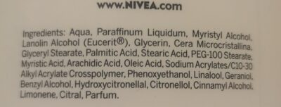 Nivea Lotion - Ingredients - en