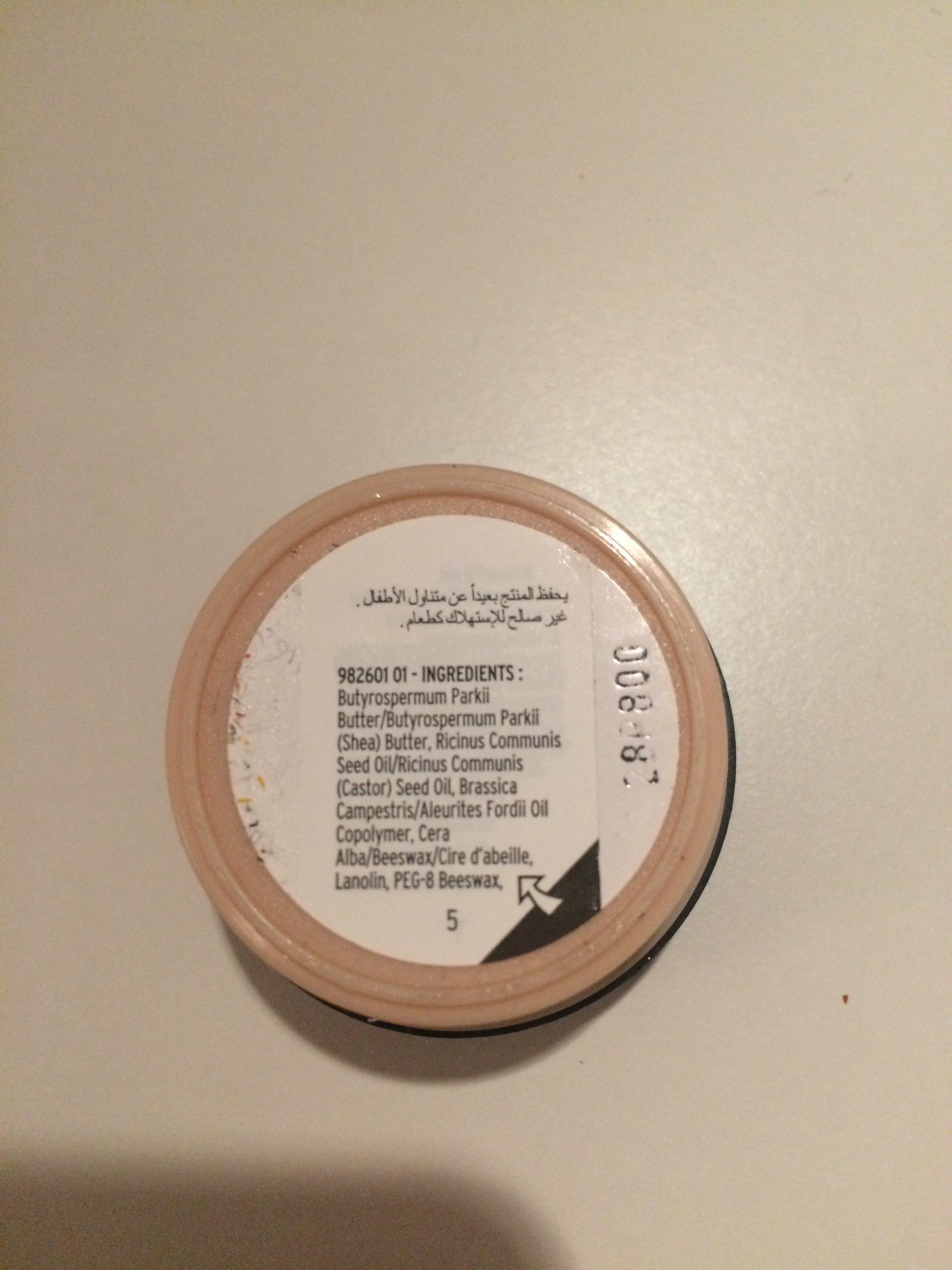 The Body Shop Shea Lip Butter - Ingredients - fr