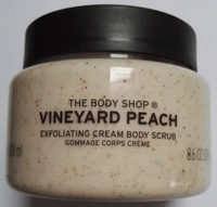 The body shop crème exfoliante corps pêche de vigne - Product