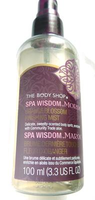 Spa wisdom Maroc Brume dernière touche fleur d'oranger - Produit - fr