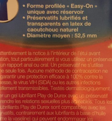 Love, préservatifs classiques faciles et rapides à poser - Ingrédients - fr