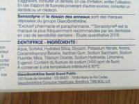 Sensodyne Protection Complete. Lot De 2 Tubes - Ingrédients