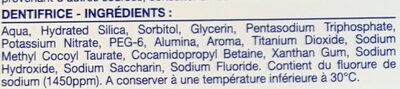 Soin Contrôle Plaque - Ingredients - fr