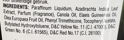 Natural Hair Oil - Ingredients - fr