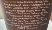 argan oil travel size shampoo - Ingredients - en