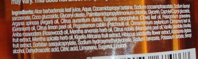 Organic Moroccan Argan Oil Shampoo - Ingredientes - en