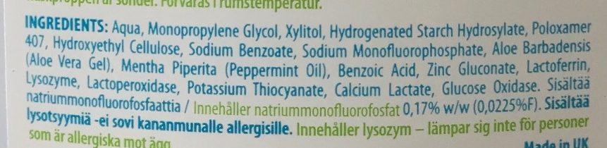 Bain de bouche - Ingredients