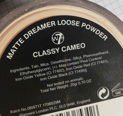 Matte dreamer - Ingredients