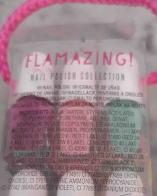 Flamazing   NAIL POLISH COLECTION - Ingredients