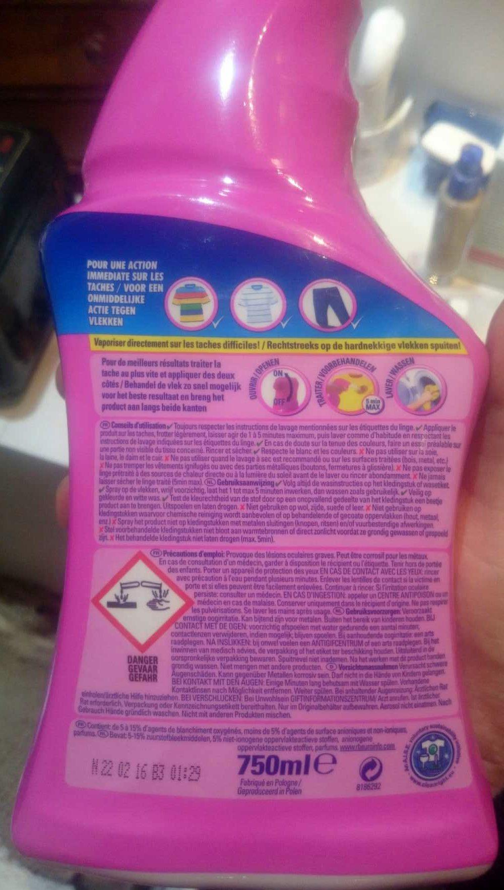 Vanish Oxi Action - Ingredients - fr