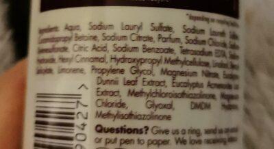 Aussie mega shampoo - Ingrédients - en
