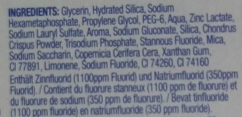 Pro-Expert Blancheur - Ingredients