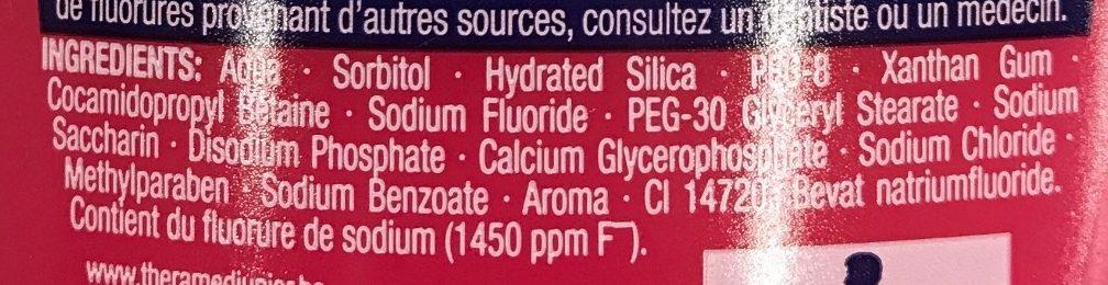 Dentifrice + Eau buccale 2 en 1 Junior - Ingredients