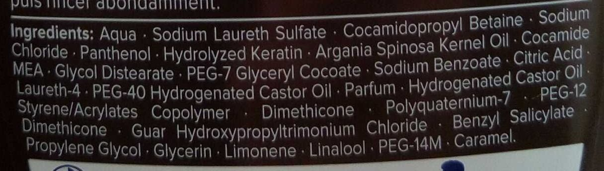 Shampoo Cream & Oil - Ingredients - fr