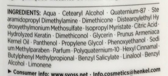 Repair Therapy Conditioner - Ingredients