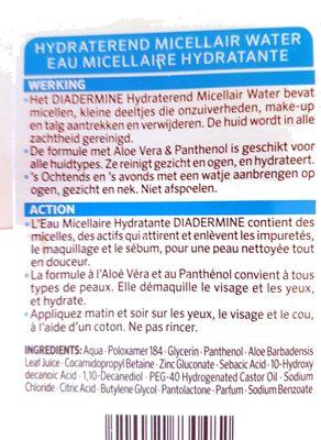 Eau micellaire hydratante - Produit