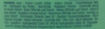 Shampoo - 7 Herbs - 7 Kruiden - Ingredients - en