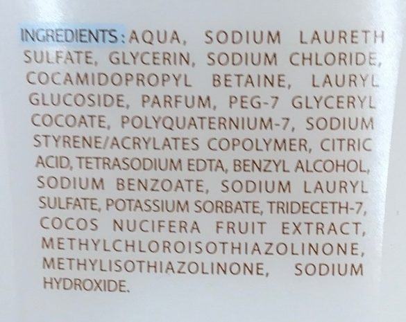 Gel douche hydratant à l'extrait de noix de coco - Ingredients - fr