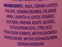 Crème lavante parfum fleuri - Ingredients - fr