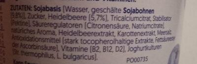 alpro Heidelbeere - Ingredients - de