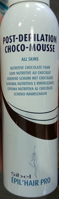 Post-Depilation Choco-Mousse Soin nutritif au chocolat - Product