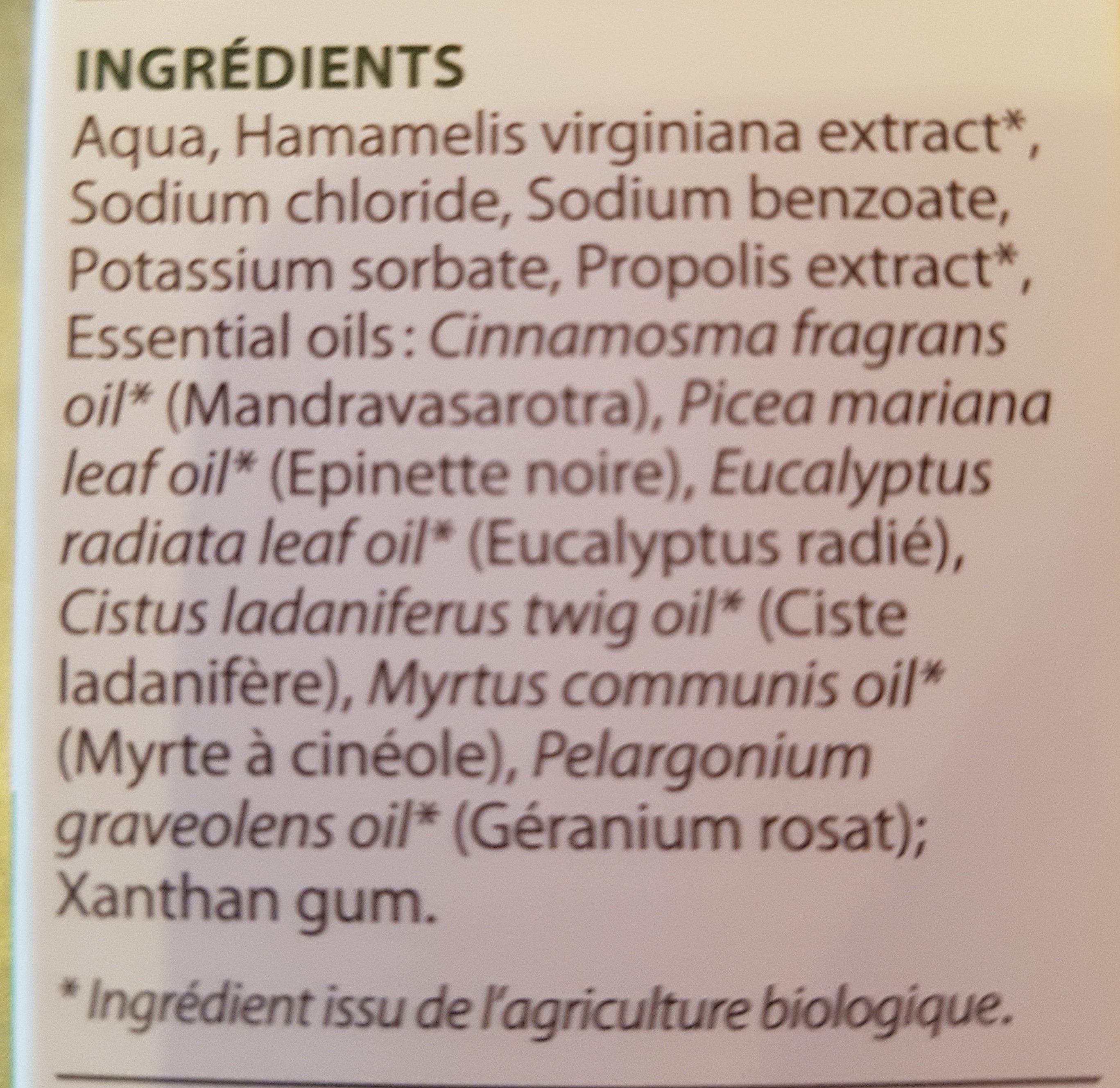 Pranarôm Science Aromaforce Spray Nasal 15ML - Ingredients - fr