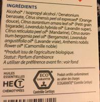 Spray Sommeil - Relaxation Aromanoctis Bio - 100 ML - Pranarôm - Ingredients - fr