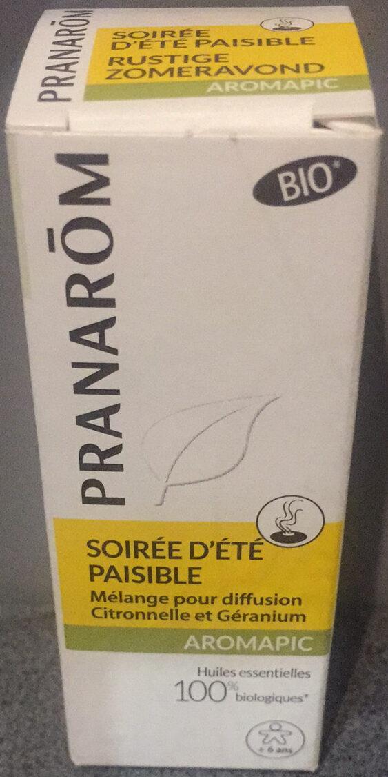 Soirée d'été paisible - Mélange pour diffusion - Citronelle et Géranium - Product - fr