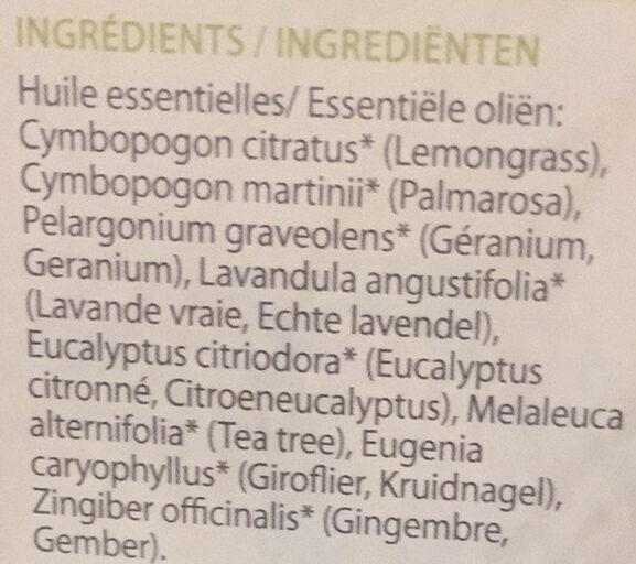Soirée d'été paisible - Mélange pour diffusion - Citronelle et Géranium - Ingredients - fr