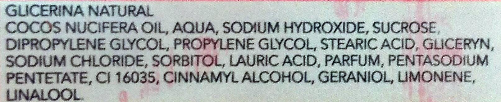 Glicerina Sabonete Natural - Ingrédients - pt