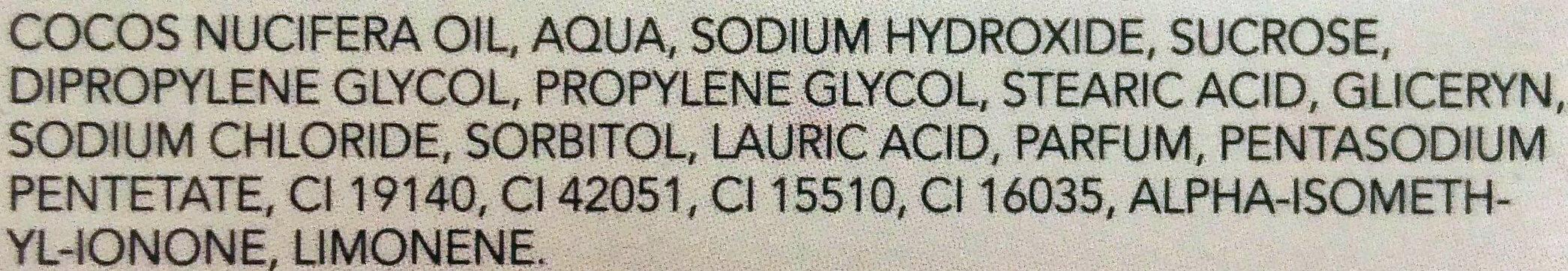 Glicerina Sabonete Mel - Ingredientes - pt