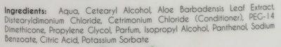 Conditioner Aloe Vera - Ingredients