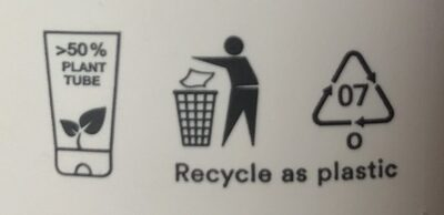 Toothpaste tea tree - Recycling instructions and/or packaging information - en