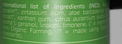 roll-on deo crystal aloe vera - Ingredients - en