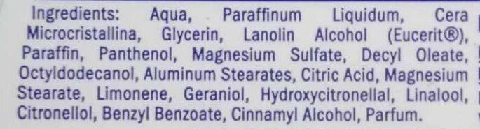 Krem - Ingredients