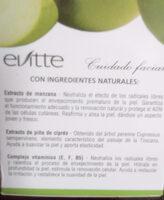 evitte - Ingredients - es