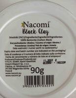 mascarilla de arcilla negra nacomi - Ingredients - en