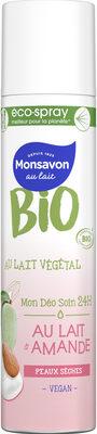 Monsavon Bio Déodorant Spray Lait Amande - Product - fr