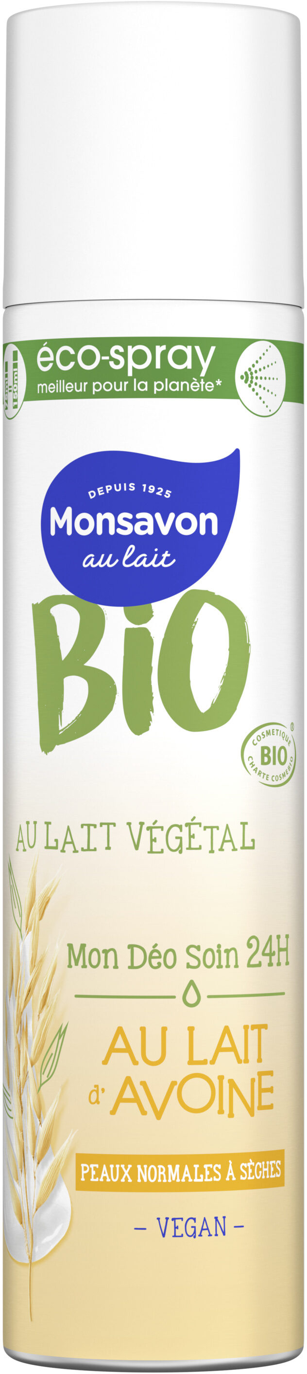 Monsavon Déodorant Spray Bio Lait Avoine - Product - fr