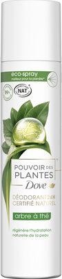 Dove Déodorant Femme Spray Pouvoir des Plantes Arbre à Thé - Produit - fr