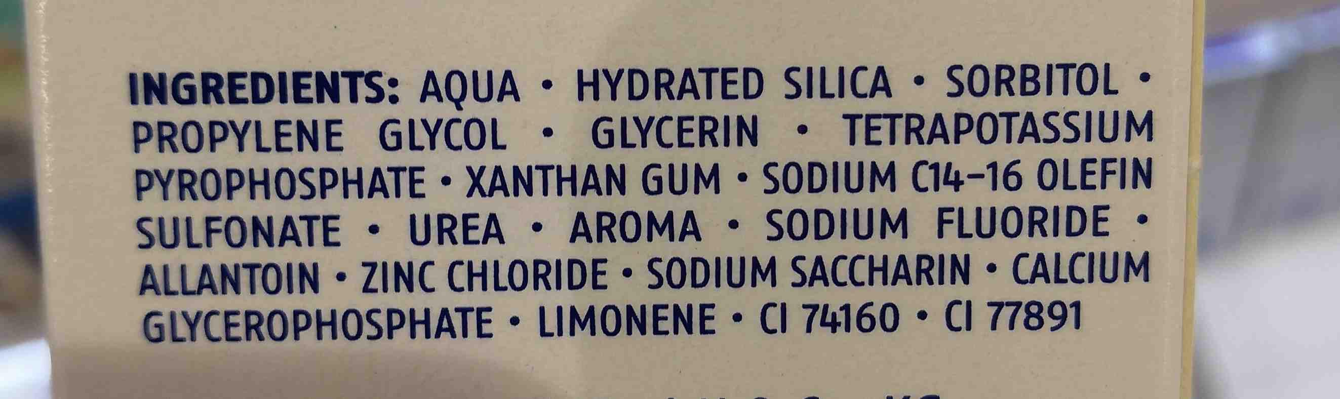 Dentalux - Ingredients - en