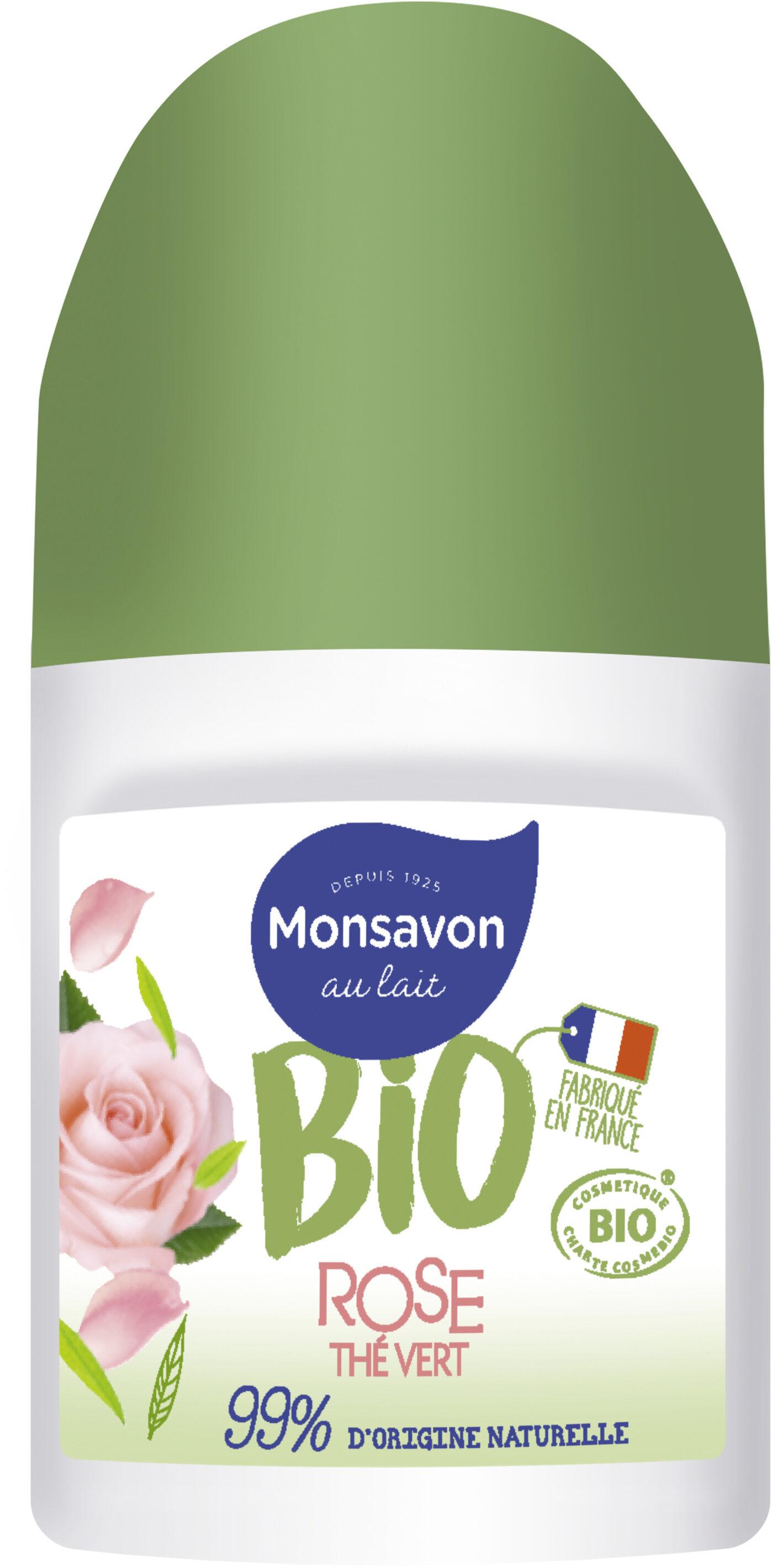 Monsavon Déodorant Bille Bio Senteur Rose soupçon de Thé Vert - Product - fr