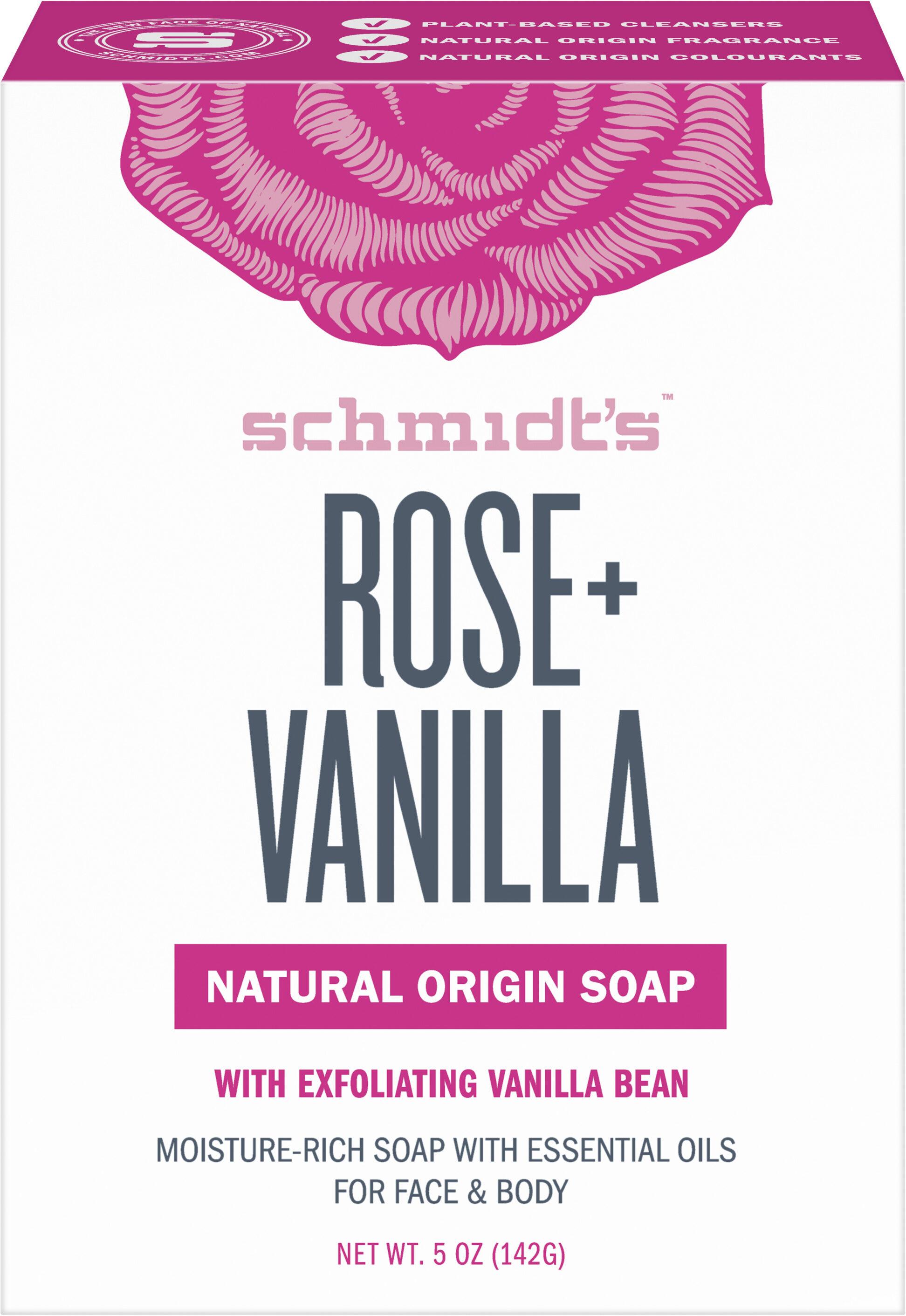 Schmidt's Savon Rose et Vanille - Product - fr