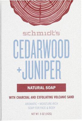 Schmidt's Savon Cèdre et Genévrier - Product - fr