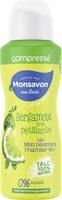 Monsavon Au Lait Déodorant Femme Spray Antibactérien Bergamote très pétillante au Talc Spray - Produit - fr